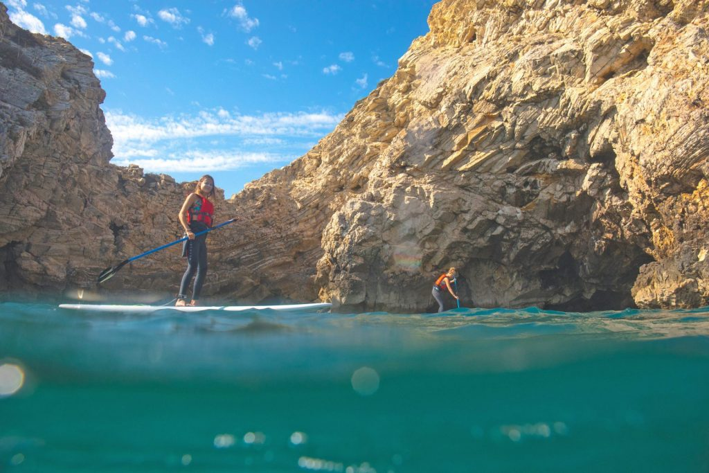 sup tour algarve caves cliffs sagres