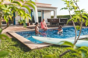 surf holiday portugal relax by the pool